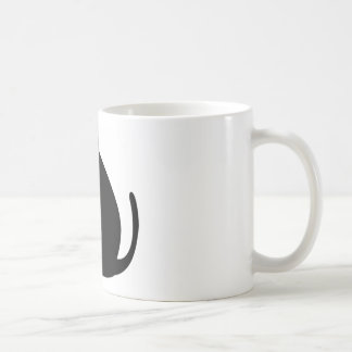 Black fat cat coffee mug