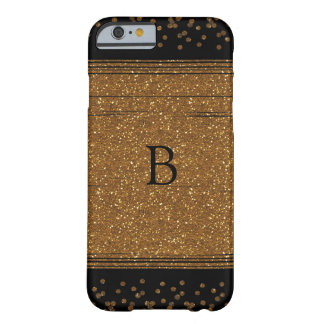 Black Faux Brushed Gold Glitter Phone Case