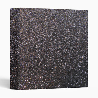Black faux glitter graphic 3 ring binder