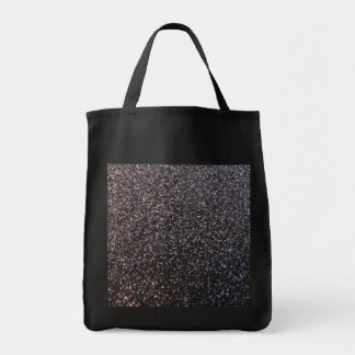 Black faux glitter graphic canvas bags