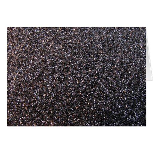 Black faux glitter graphic card