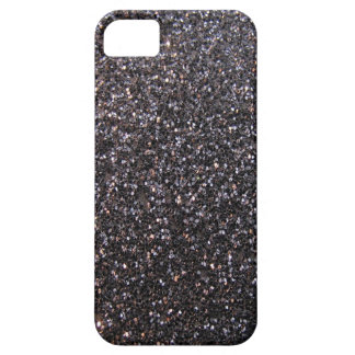 Black faux glitter graphic iPhone 5 case