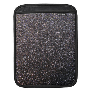 Black faux glitter graphic sleeve for iPads