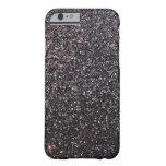 Black faux glitter graphic iPhone 6 case