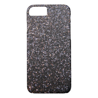 Black faux glitter graphic iPhone 7 case