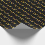 [ Thumbnail: Black, Faux Gold 10th (Tenth) Event Wrapping Paper ]