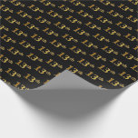 [ Thumbnail: Black, Faux Gold 13th (Thirteenth) Event Wrapping Paper ]