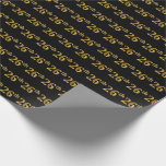[ Thumbnail: Black, Faux Gold 26th (Twenty-Sixth) Event Wrapping Paper ]