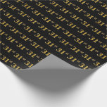 [ Thumbnail: Black, Faux Gold 31st (Thirty-First) Event Wrapping Paper ]