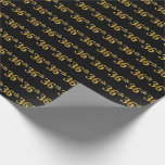 [ Thumbnail: Black, Faux Gold 36th (Thirty-Sixth) Event Wrapping Paper ]
