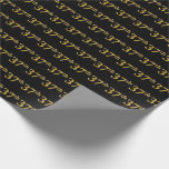 [ Thumbnail: Black, Faux Gold 37th (Thirty-Seventh) Event Wrapping Paper ]