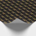 [ Thumbnail: Black, Faux Gold 38th (Thirty-Eighth) Event Wrapping Paper ]