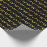 [ Thumbnail: Black, Faux Gold 59th (Fifty-Ninth) Event Wrapping Paper ]