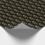[ Thumbnail: Black, Faux Gold 65th (Sixty-Fifth) Event Wrapping Paper ]