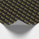 [ Thumbnail: Black, Faux Gold 83rd (Eighty-Third) Event Wrapping Paper ]