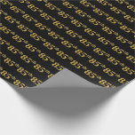 [ Thumbnail: Black, Faux Gold 85th (Eighty-Fifth) Event Wrapping Paper ]