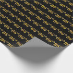 [ Thumbnail: Black, Faux Gold 86th (Eighty-Sixth) Event Wrapping Paper ]