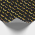 [ Thumbnail: Black, Faux Gold 88th (Eighty-Eighth) Event Wrapping Paper ]