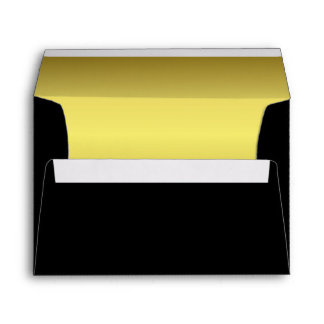Black | Faux Gold Elegant Simple Coordinating Envelope