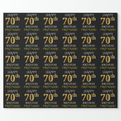 Gift Wrap Happy Birthday 70 Years Old Wrapping Paper