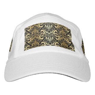 black,faux gold,vintage,antique,damasks,pattern,ch headsweats hat