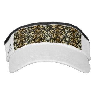 black,faux gold,vintage,antique,damasks,pattern,ch visor