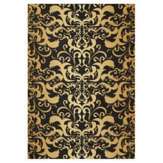 black,faux gold,vintage,antique,damasks,pattern,ch wood poster