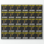 """[ Thumbnail: Black, Faux/Imitation Gold, """"1st Birthday"""" Wrapping Paper ]"""