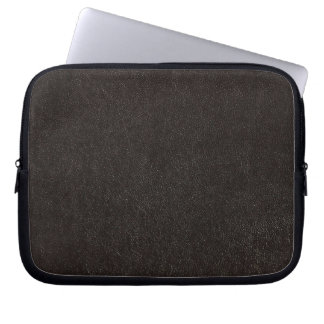black faux leather laptop cover