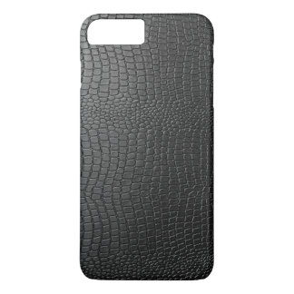 Black Faux Snakeskin Pattern iPhone 8 Plus/7 Plus Case
