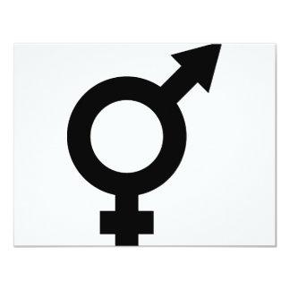 black fe-male icon card