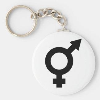 black fe-male icon keychain