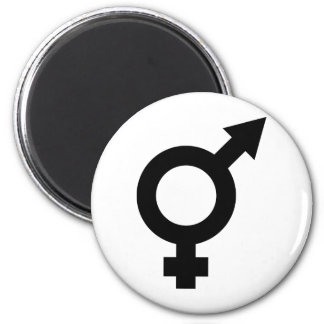 black fe-male icon magnet