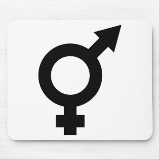 black fe-male icon mouse pad
