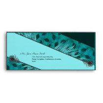 Black feather pattern  #10 business envelopes