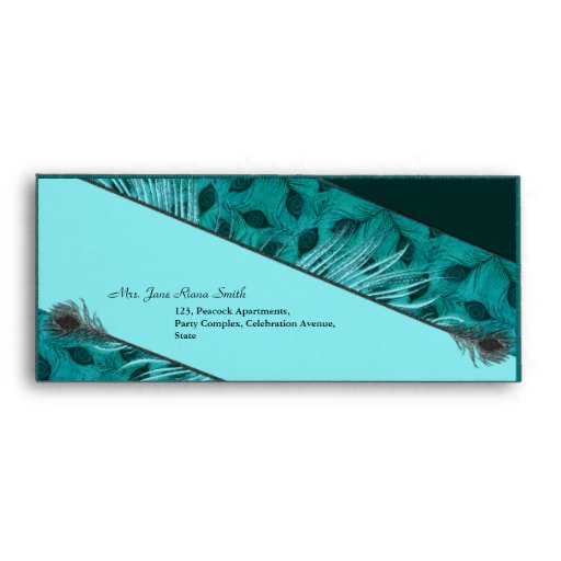 Black feather pattern  #10 business envelopes