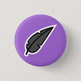 Black Feather Pinback Button