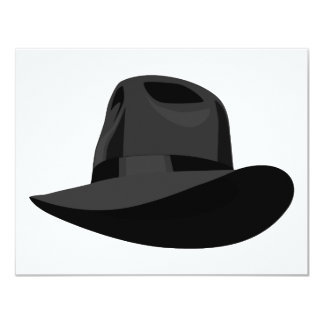 Black Fedora narrow ribbon Card