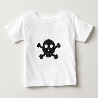 Black Felt Skull Baby T-Shirt