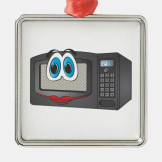 Black Female Cartoon Microwave Christmas Ornament