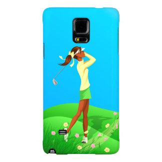 Black Female Golfer Spring Samsung 4 Case