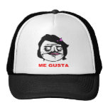 Black Female Me Gusta Comic Rage Face Meme Mesh Hat