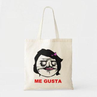 Black Female Me Gusta Comic Rage Face Meme Tote Bag