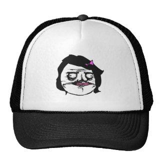 Black Female Me Gusta Comic Rage Face Meme Trucker Hat