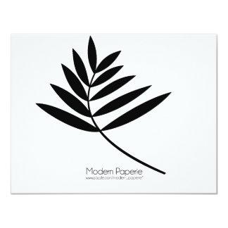 Black Fern Modern 50th Birthday / Special Event Card