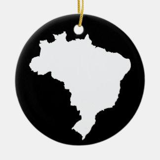 Black Festive Brazil at Emporio Moffa Ceramic Ornament