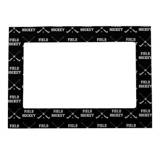 Black Field Hockey Magnetic Picture Frame
