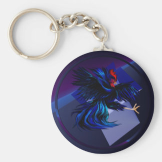 Black Fighting Rooster Keychain
