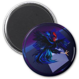 Black Fighting Rooster Magnet