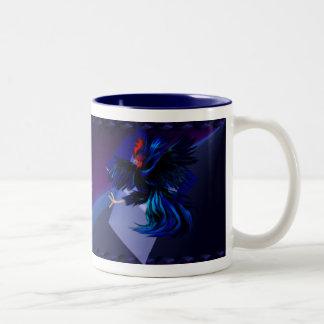 Black Fighting Rooster Mug